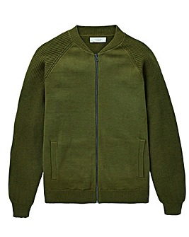 W&B Khaki Knitted Bomber R
