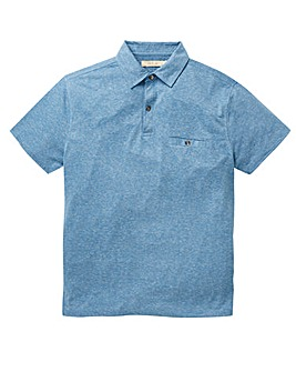 W&B Blue Linen Mix Polo R