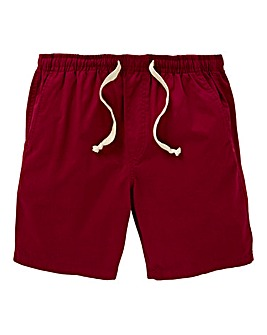 W&B Claret Elasticated Shorts