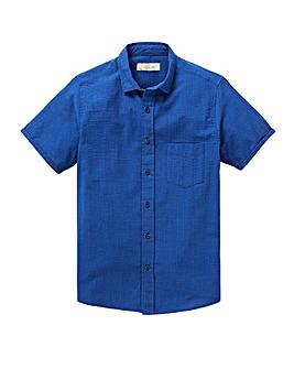 W&B Cobalt Seersucker Stripe Shirt R