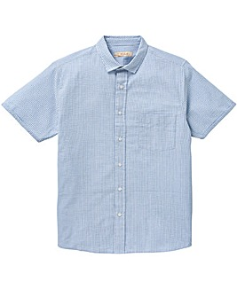 W&B Blue Stripe Seersucker Shirt R