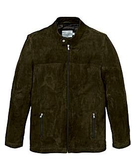 W&B Olive Suede Biker Jacket R