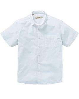 W&B White Seersucker Shirt L