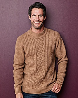 W&B Toffee Cable Knit Jumper R