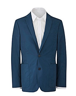 W&B Blue Cotton Stretch Blazer R