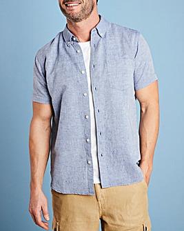 W&B Blue Linen Mix Shirt R