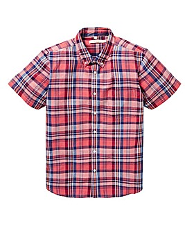 W&B Red Check Linen Mix Shirt R