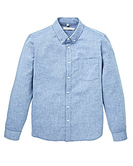 W&B Blue Linen Mix Shirt R