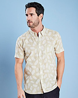 W&B Natural Print Linen Mix Shirt R