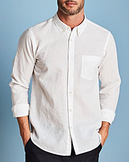W&B White Linen Mix Shirt R