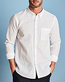W&B White Linen Mix Shirt R
