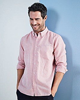 W&B Pink Linen Mix Shirt R