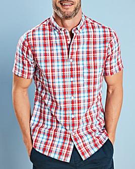 W&B Red Check Seersucker Shirt R
