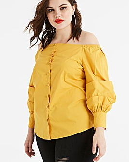 Fashion Union Bardot Ruffle Top