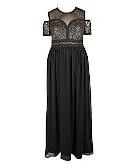 Lovedrobe Cold Shoulder Maxi Dress