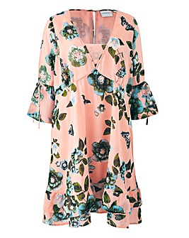 Junarose Floral Frill Hem Dress