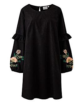 Junarose Embroidered Sleeve Dress