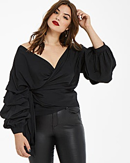AX Paris Statement Sleeve Blouse