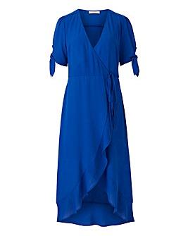 Oasis Tie Sleeve Wrap Midi Dress