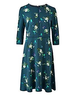 Oasis Butterfly Skater Dress