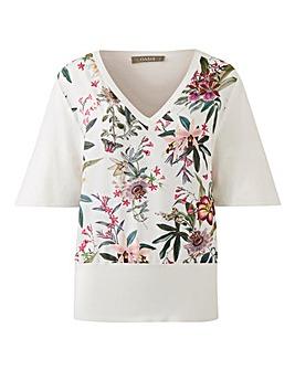 Oasis Secret Garden Woven Front Knit