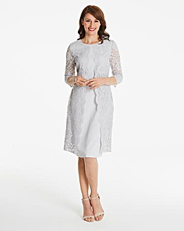 Gina Bacconi Lace Placement Shift Dress