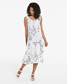 Eden Rock Abstract Pure Linen Dress