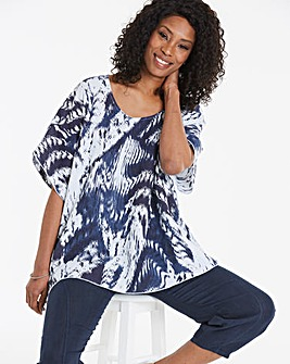 Eden Rock Wave Print Pure Linen Top