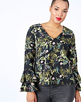 Lovedrobe Double Layer V Neck Blouse