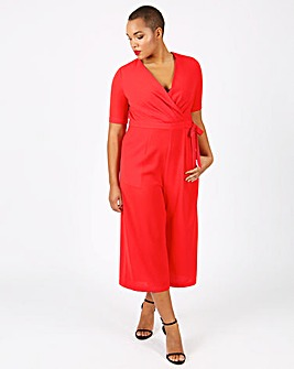 Lovedrobe Wrap Top Culotte Jumpsuit