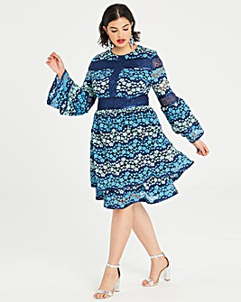 Dolly & Delicious Lace Pannelled Dress