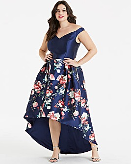 Chi Chi London Dip Back Floral Dress