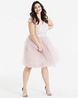 Chi Chi London Crochet Prom Dress