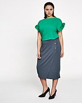 I.Scenery Kringe Midi Skirt