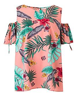 Junarose Tropical Print Blouse