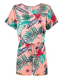 Junarose Tropical Print Playsuit