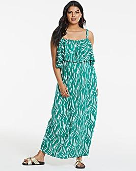 Junarose Abstract Print Maxi Dress