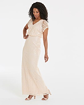 Adrianna Papell Sequin Maxi Dress
