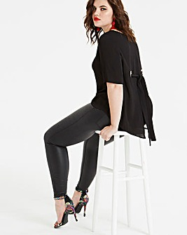 Koovs Eyelet Split Back Blouse