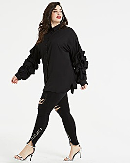 AX Paris Curve Balloon Sleeve Top