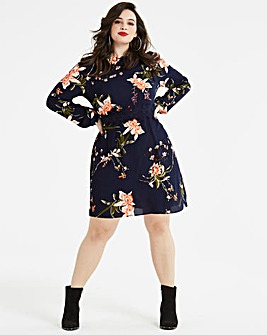 AX Paris Curve Crochet Floral Dress