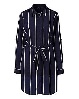 AX Paris Curve Stripe Shirt Dress
