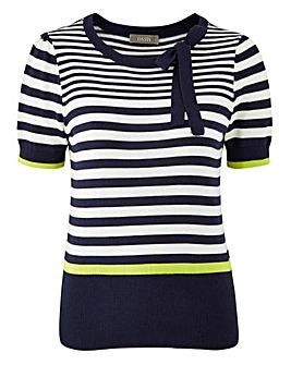 Oasis Napoli Stripe Bow Knit