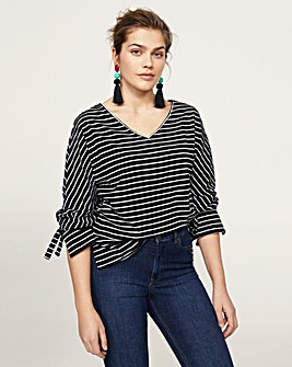 Violeta by Mango Stripe Jersey Top