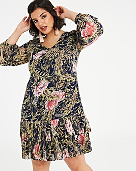 Lovedrobe Pleated Hem Shift Dress