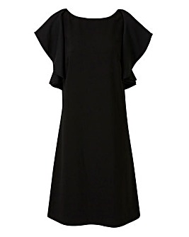 Lovedrobe Shift Dress with Ruffle Sleeve