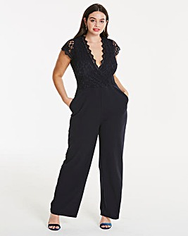 Ax Paris Curve Crochet Jumpsuit