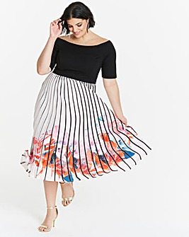 Coast Mirabeau Pleated Midi Dress