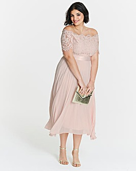 Coast Imi Lace Bardot Dress