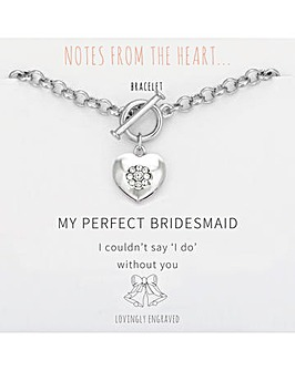 My Perfect Bridesmaid Heart Bracelet
